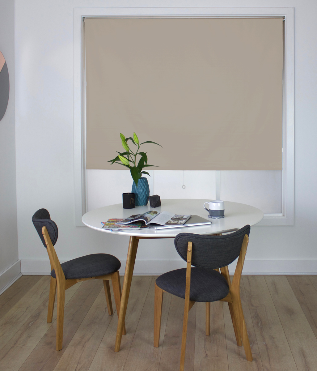 Easy Peel PVC Roller Blind Latte