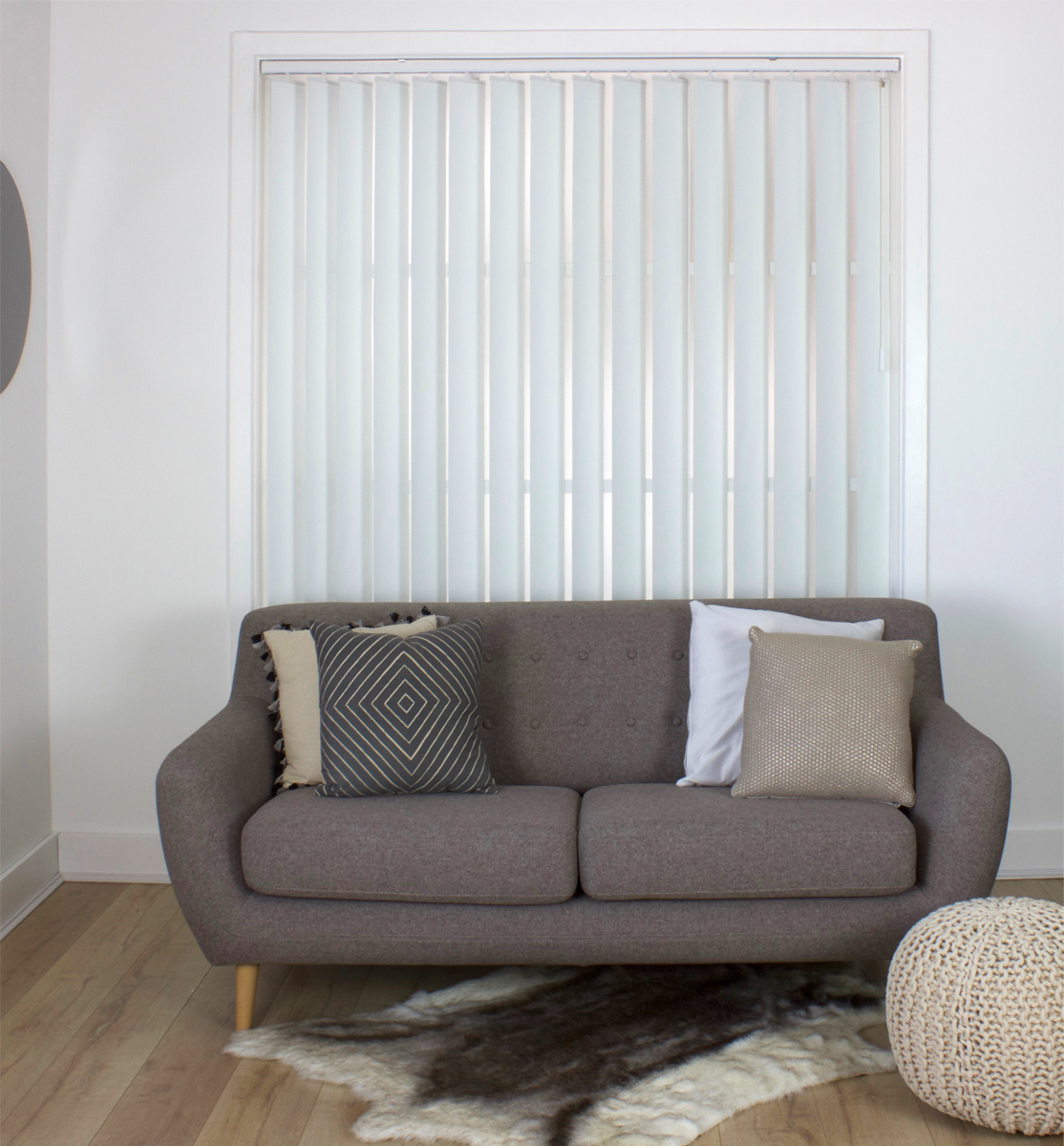 <b>Vertical Blind 127mm </b><p> White