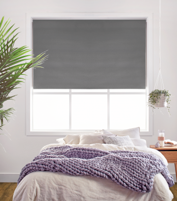 Midnight Grey Charm Roller Blind